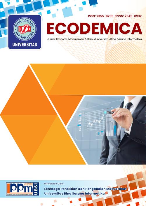 Jurnal Ecodemica Jurnal Ekonomi Manajemen Dan Bisnis