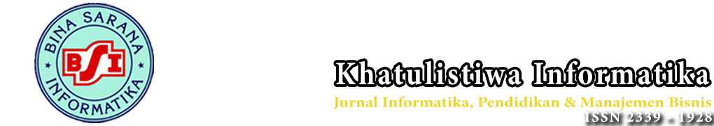 Jurnal Khatulistiwa Informatika